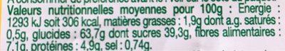 Pain d'Épices au Miel Bio - Voedingswaarden - fr