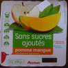 Compotes pomme mangue sans sucres ajoutés - Produit