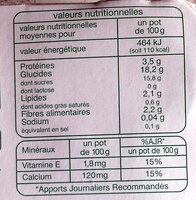 Dessert soja au chocolat - Informations nutritionnelles - fr