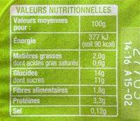 Dessert Soja chocolat - Informations nutritionnelles - fr
