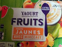 Yaourts Fruits Fruits Jaunes avec morceaux - Produit