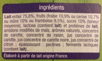 Yaourt Fruits Rouges avec Morceaux - Ingrediënten - fr
