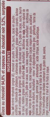 Glace chocolat avec morceaux de chocolat 1 L - Ingrédients - fr