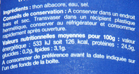 Thon Albacore au naturel (Lot de 2 boîtes) - Ingredients - fr