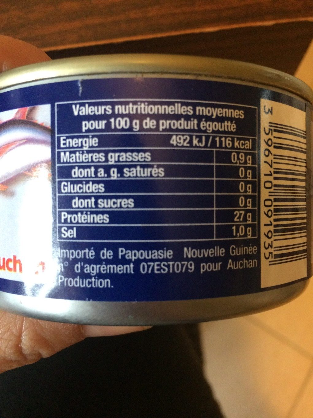 Thon Albacore au naturel (Lot de 2 boîtes) - Nutrition facts - fr