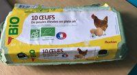 Oeufs de poules élevées en plein air Bio (x 10) - Product