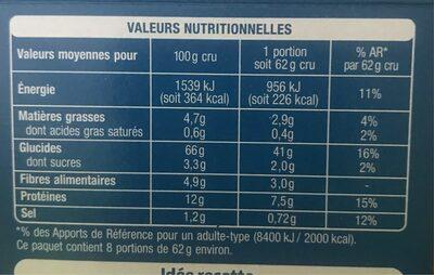Couscous parfumé aux épices - Voedingswaarden - fr