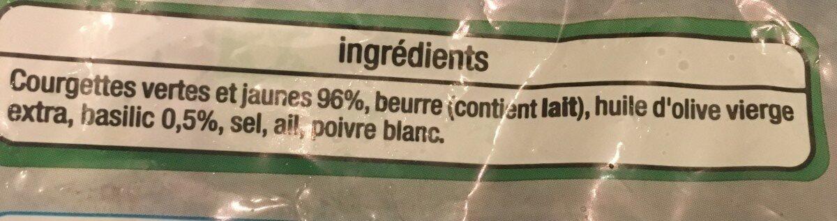 Duo de courgettes les poêlées - Ingrédients - fr