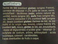 8 mini gâches aux carreaux de chocolat - Ingrédients