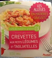 Crevettes aux petits légumes et tagliatelles (2,4 % MG) - Produit - fr