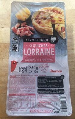 2 quiches Lorraine à la crème fraîche lardons et emmental - Product
