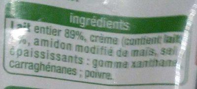 Sauce Béchamel - Ingredients - fr