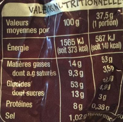 Brioche tressée vendéenne - Nutrition facts