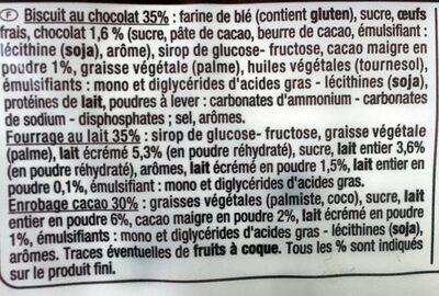 Genoise goût cacao et lait - Ingredients