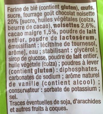 Pancakes Fourrés goût Chocolat Noisettes - Ingrediënten - fr