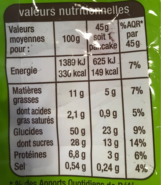 Pancakes Fourrés goût Chocolat Noisettes - Voedingswaarden - fr