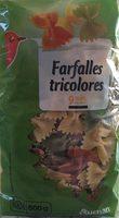 Farfalles tricolores - Pâtes aromatisées à la Tomate et aux Epinards - Product