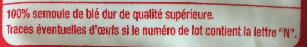 Pâtes Alphabet - Ingrédients - fr