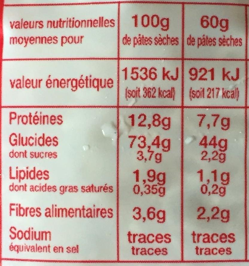 Pâtes Alphabet - Informations nutritionnelles - fr