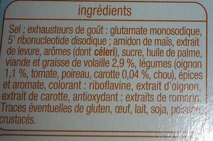 Bouillon de Volaille - Ingredients - fr