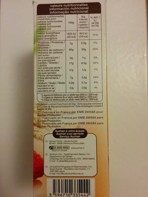 Biscuits petit déjeuner céréales fruits rouge - 3