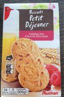 Biscuits petit déjeuner céréales fruits rouge - Produit - fr