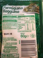 Parmigiano Reggiano rapé - Informations nutritionnelles - fr