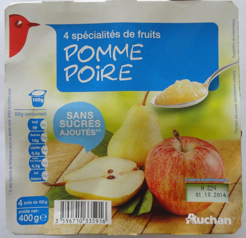 Compote pomme poire sans sucres ajoutés - Produit