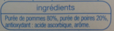 Compote pomme poire sans sucres ajoutés - Ingrédients