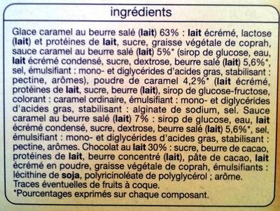 Batonnets caramel beurre salé - Ingrediënten