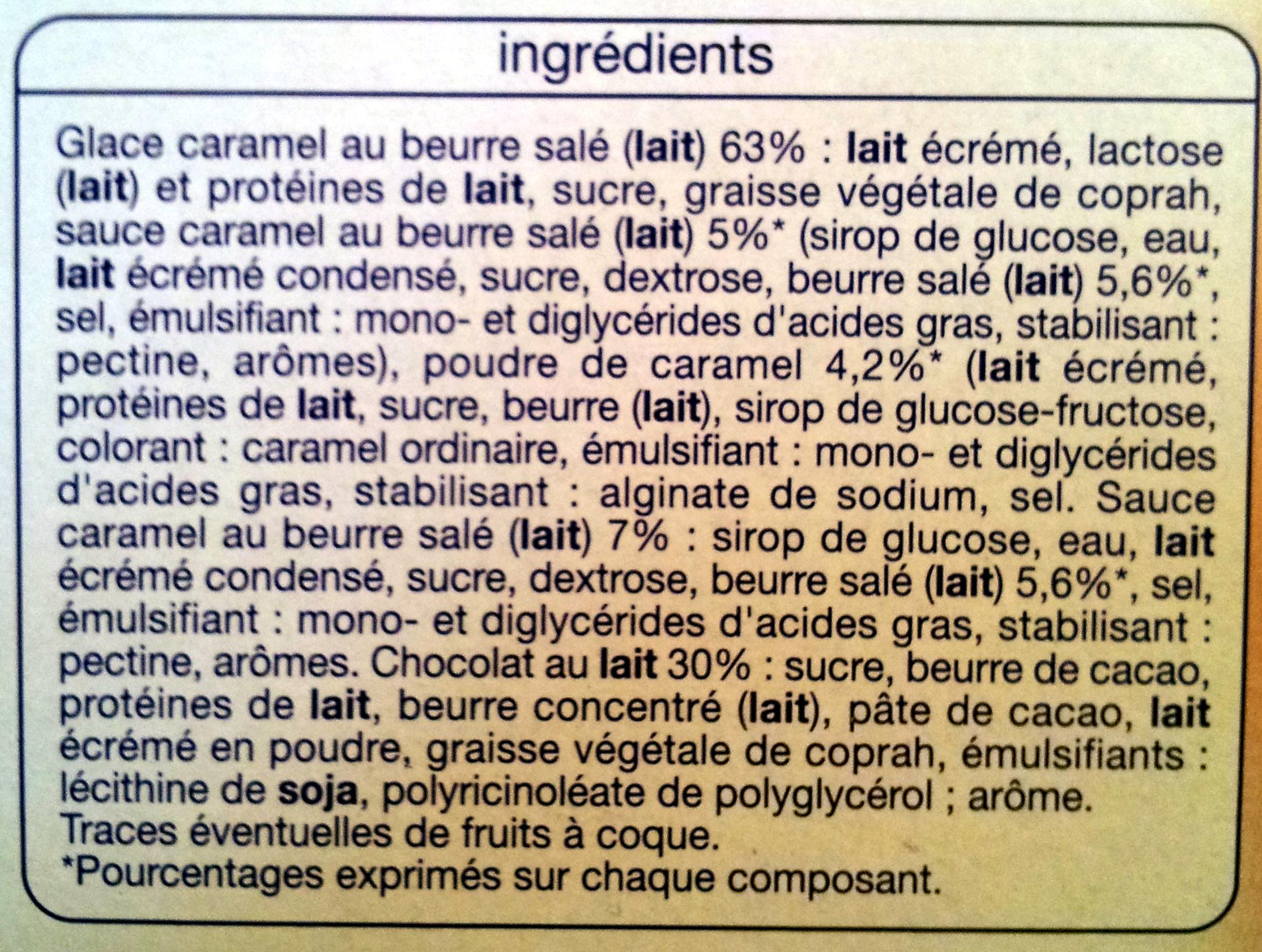 Batonnets caramel beurre salé - Ingrédients - fr