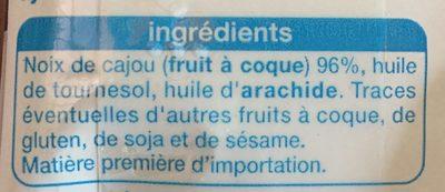 Noix de cajou Sans sel ajouté - Ingrédients
