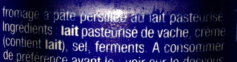 Le Bleu (34 % MG) - Ingredients - fr