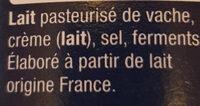 Le Bleu (34 % MG) - Ingrédients - fr