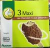 3 maxi au chocolat et aux amandes - Product
