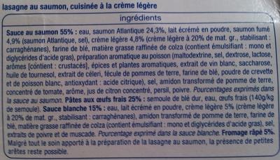 Lasagne Saumon - Ingredients - fr
