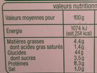 Ravioli ricotta épinards Bio - Informations nutritionnelles - fr