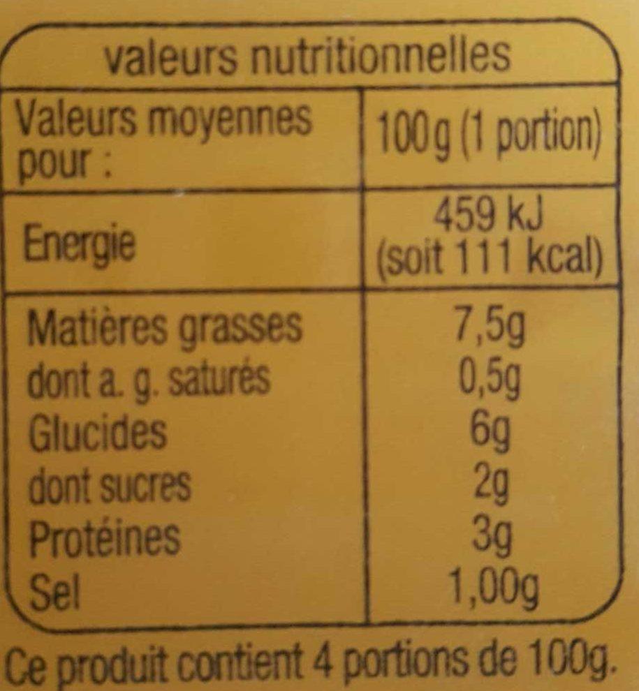 Macédoine - mayonnaise - Informations nutritionnelles - fr