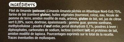 Filets de limande façon meunière - Ingrédients