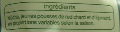 Mélange verdoyant (3/4 portions) - Ingrédients