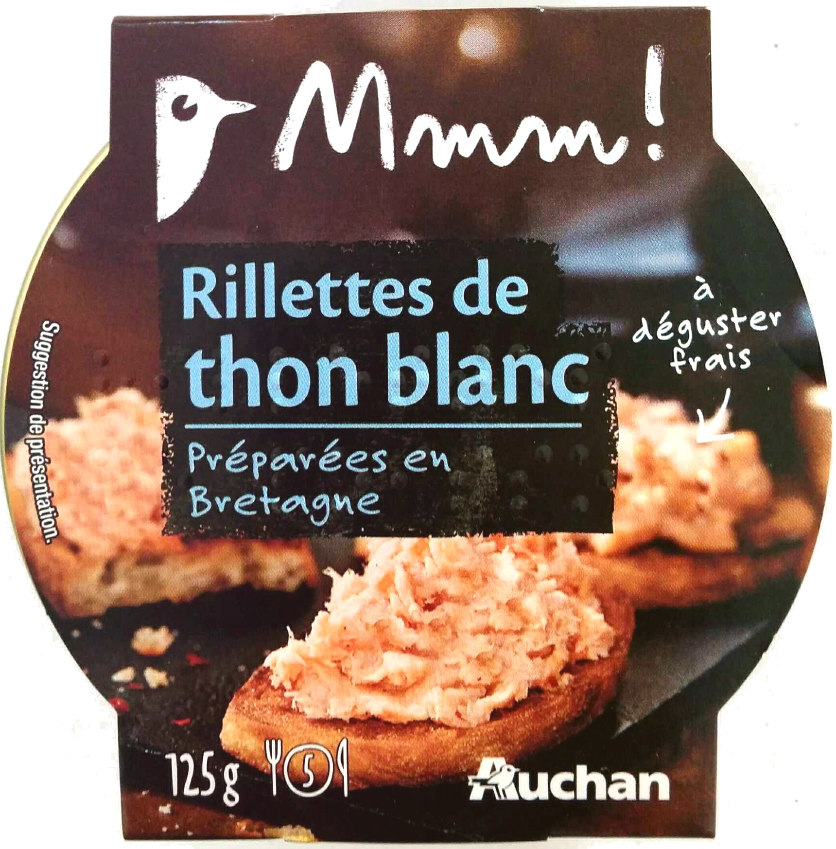 rillettes de thon blanc mmm 125 g. Black Bedroom Furniture Sets. Home Design Ideas