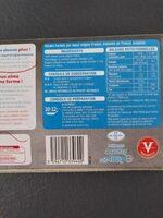 Steak hachés pour boeuf - Informations nutritionnelles - fr