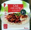 Chili con carne et son riz blanc - Produit