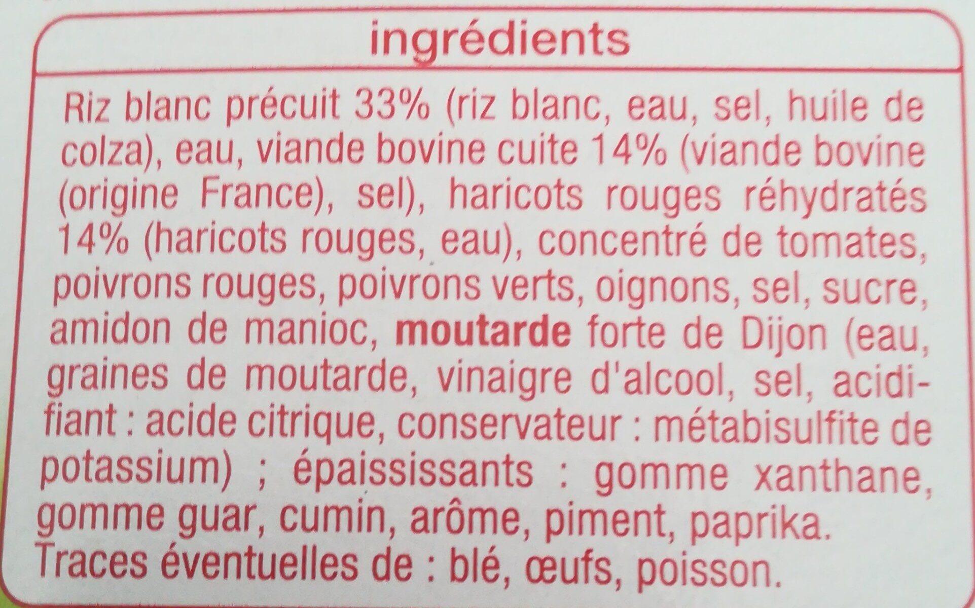 Chili con carne - Inhaltsstoffe - fr