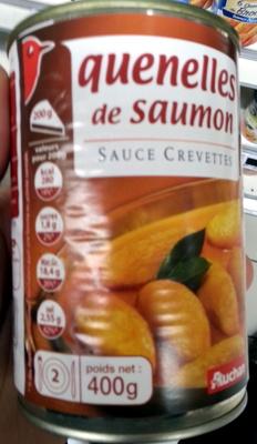 Quenelles de saumon sauce crevette - Product