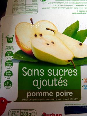 Compote pomme-poire sans sucres ajoutés - Product - fr