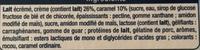 Liégeois saveur Vanille sur lit de Caramel - Ingrédients - fr