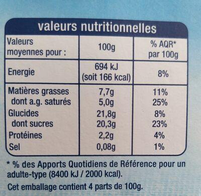 Liégeois saveur Vanille sur lit de Caramel - Informations nutritionnelles - fr