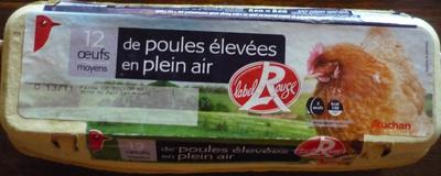 Oeufs moyens de poules élevées en plein air Label Rouge - Product - fr