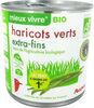Mieux Vivre Bio haricots verts extra fins - Product